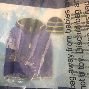 Snozu boys 2pc jacket and hat new sz 6